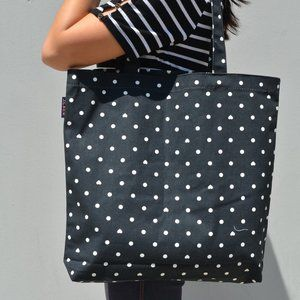 NWT Jcrew Heart Dot Canvas Book Lunch Tote
